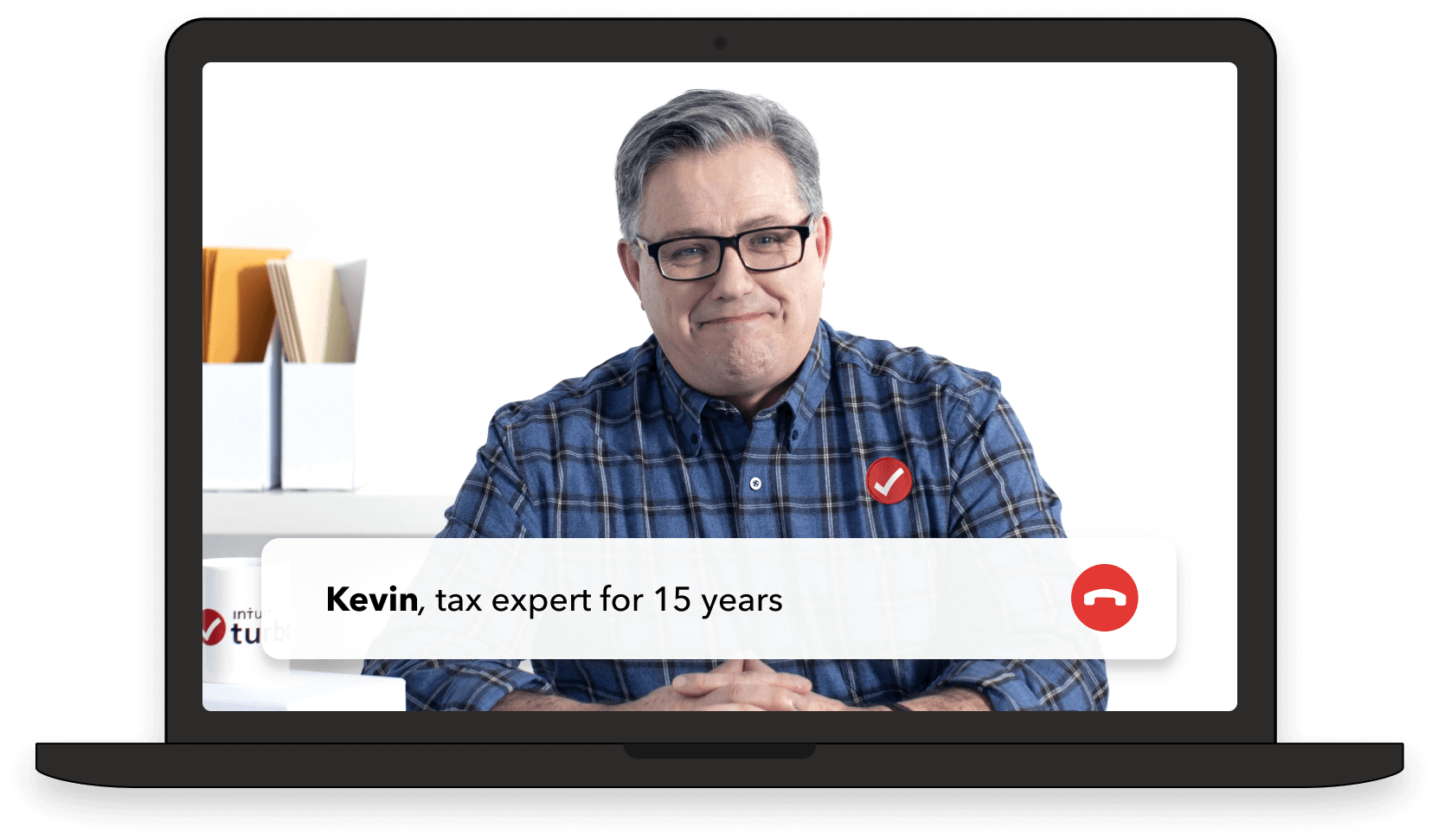Self-employed tax expert on laptop screen